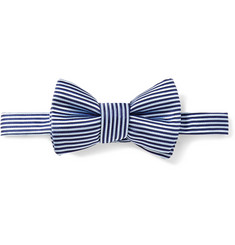 Charvet Striped Silk-Satin Bow Tie