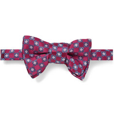 Charvet Patterned Silk-Satin Bow Tie