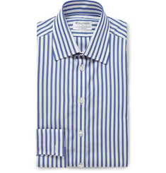 Kingsman + Turnbull & Asser Blue Butchers Stripe Double Cuff Cotton Shirt