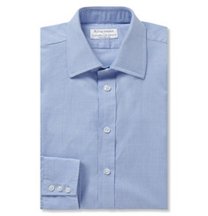 Kingsman Turnbull & Asser Blue Prince of Wales Check Cotton Shirt