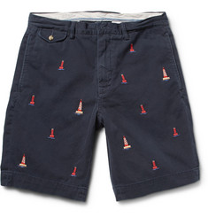 Polo Ralph Lauren Lighthouse-Embroidered Cotton-Twill Shorts