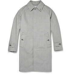 Kingsman Prince of Wales Check Cotton Raincoat