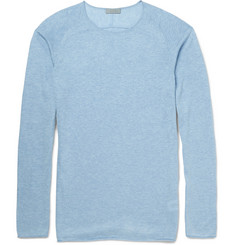 COS Marled Silk, Linen and Lyocell-Blend Raglan Sweater