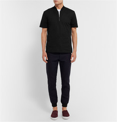 COS Half-Zip Cotton-Pique T-Shirt