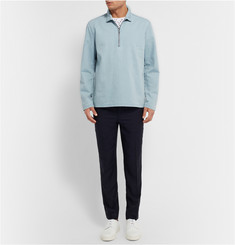 COS Half-Zip Denim Shirt