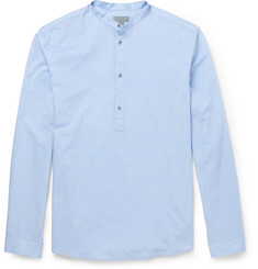 COS Cotton-Poplin Grandad-Collar Shirt