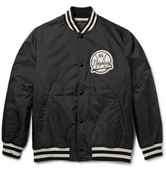 Neighborhood Appliquéd Shell Varsity Jacket
