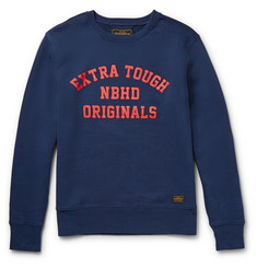 Neighborhood Printed Cotton-Fleece Sweatshirt