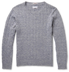 Gant Rugger Mélange Cable-Knit Cotton Sweater