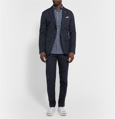 Gant Rugger Slim-Fit Woven Cotton and Linen-Blend Suit Trousers