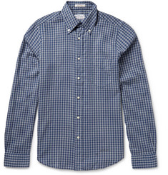 Gant Rugger Slim-Fit Button-Down Collar Checked Cotton Shirt