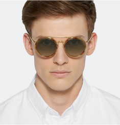 Dries Van Noten Acetate and Metal Aviator Sunglasses