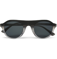 Dries Van Noten Acetate Round-Frame Sunglasses