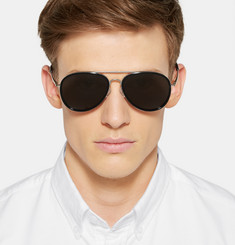 Dries Van Noten Metal Aviator Sunglasses