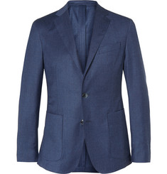 Hackett Blue Woven Wool and Cashmere-Blend Blazer