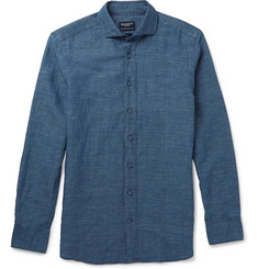 Hackett Slub Linen and Cotton-Blend Shirt