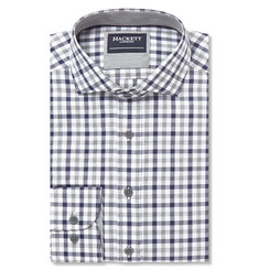 Hackett Navy Checked Cotton Shirt