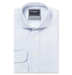 Hackett Blue Patterned Cotton Shirt
