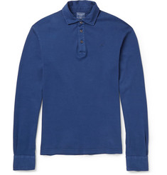 Hackett Brushed Cotton-Jersey Polo Shirt