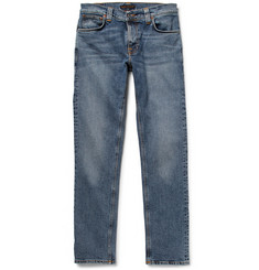 Nudie Jeans Thin Finn Slim-Fit Organic Washed-Denim Jeans