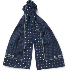 RRL Polka-Dot Cotton Scarf