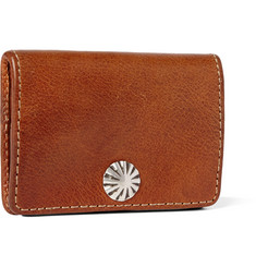 RRL Concha Hand-Burnished Leather Coin Wallet