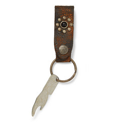 RRL Studded Leather Key Fob