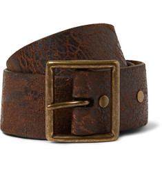 RRL 4cm Brown Leather Belt