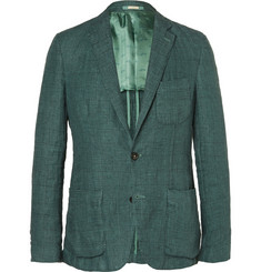 Massimo Alba Evergreen Slim-Fit Prince Of Wales Checked Linen Jacket