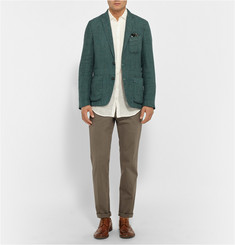 Massimo Alba Evergreen Slim-Fit Prince Of Wales Check Linen Jacket