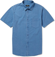 A.P.C. Washed-Denim Short-Sleeved Shirt