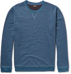 A.P.C. Marled Cotton-Blend Jersey Sweatshirt