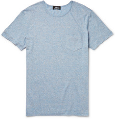 A.P.C. Striped Cotton-Blend Jersey T-Shirt