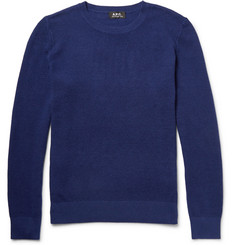 A.P.C. Waffle-Knit Cotton and Cashmere-Blend Sweater