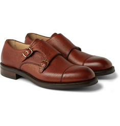 Cheaney Edmund Pebblegrain Leather Monk-Strap Shoes
