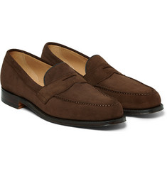 Cheaney Hudson Suede Penny Loafers