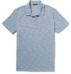 Theory Willem Mélange Cotton-Blend Jersey Polo Shirt