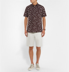 Theory Zaine Slim-Fit Cotton and Linen-Blend Shorts