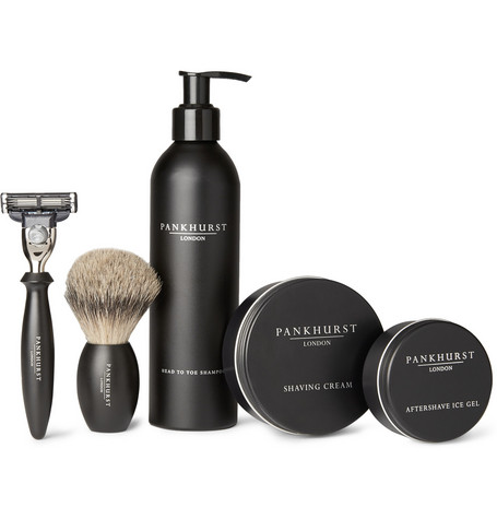 Pankhurst London Shaving Set In Black