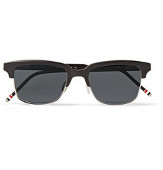 Thom Browne Acetate and Metal Square-Frame Sunglasses
