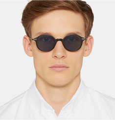 Thom Browne Round-Frame Acetate and Titanium Sunglasses