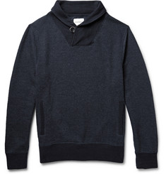 Billy Reid Shawl-Collar Cotton-Blend Sweatshirt