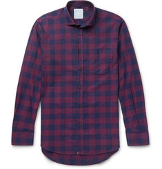Billy Reid Slim-Fit Checked Herringbone Cotton-Flannel Shirt