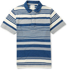 Billy Reid Striped Cotton-Piqué Polo Shirt