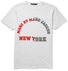 Marc by Marc Jacobs University Logo Printed Cotton-Jersey T-Shirt