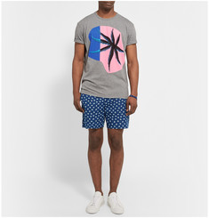 Marc by Marc Jacobs Palm-Print Cotton-Chambray Shorts