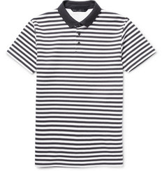 Marc by Marc Jacobs Striped Cotton-Blend Jersey Polo Shirt