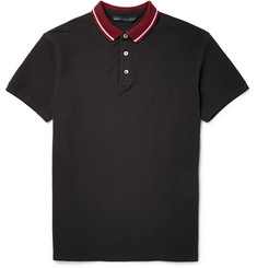 Marc by Marc Jacobs Striped-Collar Cotton-Piqué Polo Shirt