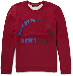 Marc by Marc Jacobs University Logo Printed Loopback-Cotton Sweatshirt