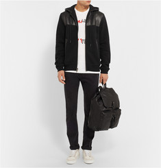 Marc by Marc Jacobs Luke Leather-Panelled Jersey Hoodie